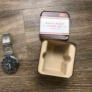 Men's fossil watch submarine